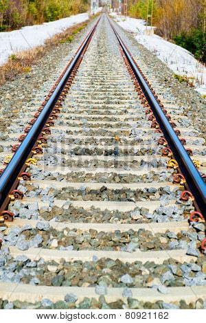 Straight Single Track Railroad