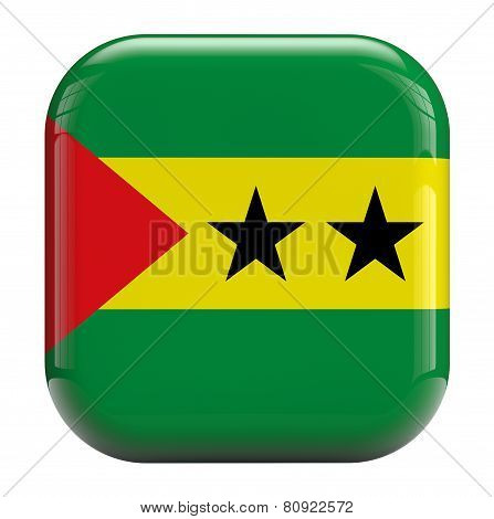 Sao Tome And Principe Flag Icon Image