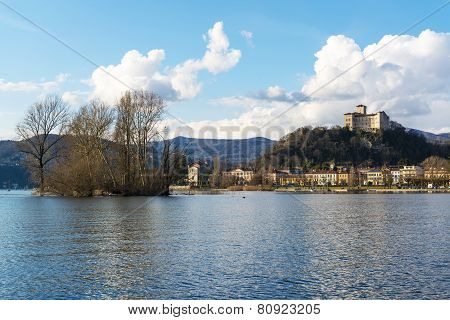 Lake Maggiore, An Island Near The Town Of Angera
