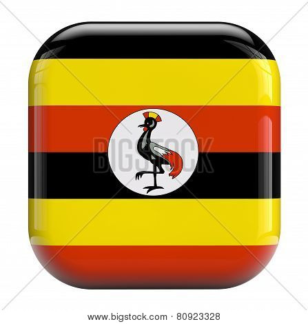 Uganda Flag Icon Image