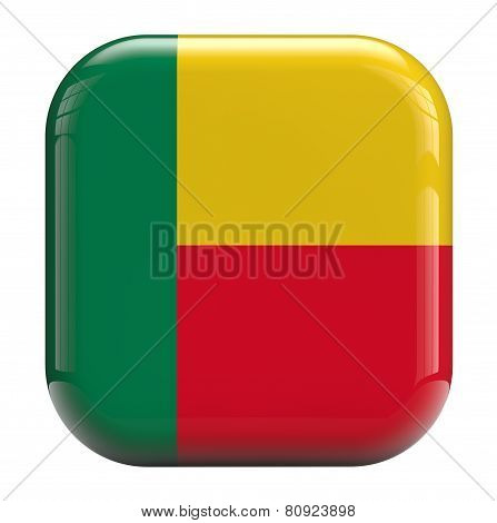 Benin Flag Icon Image