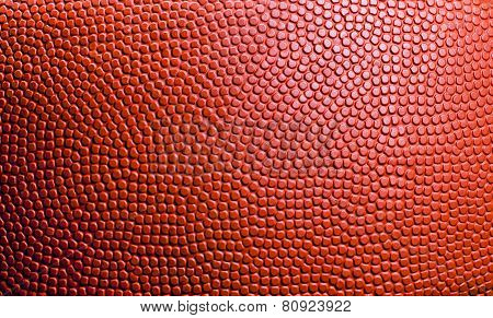 Closed Up View Of Basketball For Background