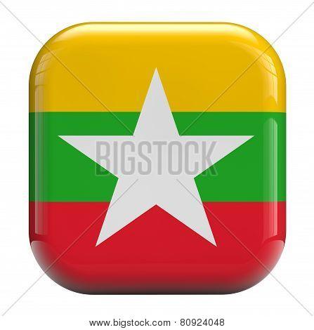 Burma Flag Icon Image