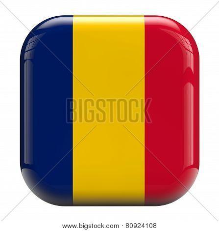 Chad Flag Icon Image