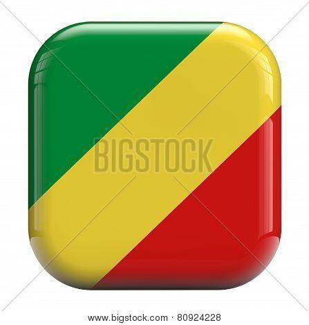 Congo Flag Icon Image