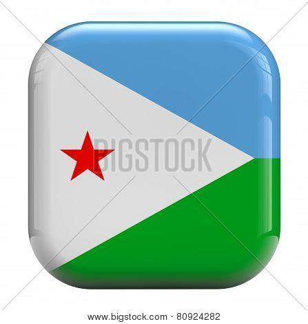 Djibouti Flag Icon Image