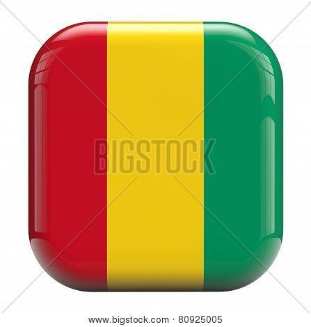 Guinea Flag Icon Image