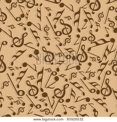 Seamless pattern with musical instrument.