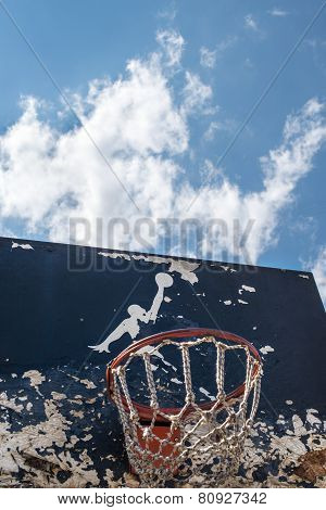 Jumpman Logo By Nike On The Old Basketball Backboard