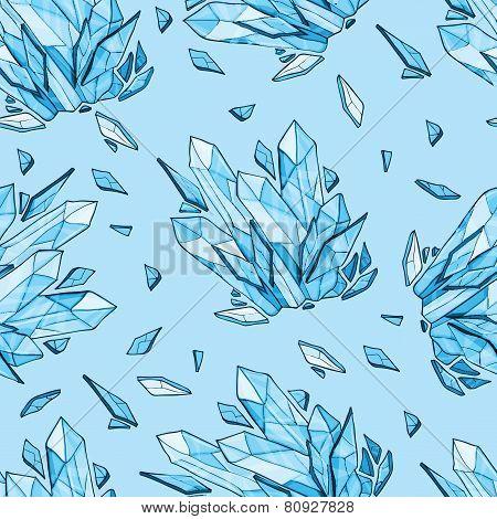 Vector Seamless Background Of Diamonds