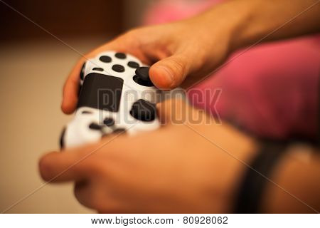 Playing With Video Game Controller