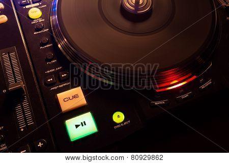 Modern Turntable Playing Music
