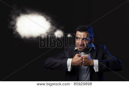 Business Man In Suit Being Angry