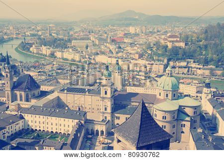 Panorama of Salzburg. Austria.