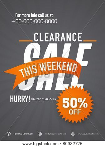 Big clearance sale flyer, banner or template.