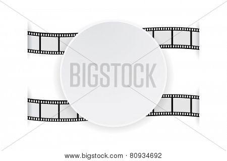 round banner paper on film strip