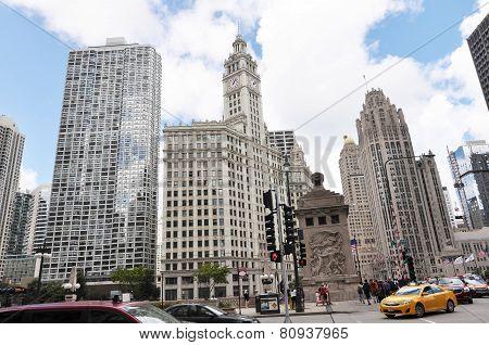 Skyscrapers in Michigan Avenue in Chicago