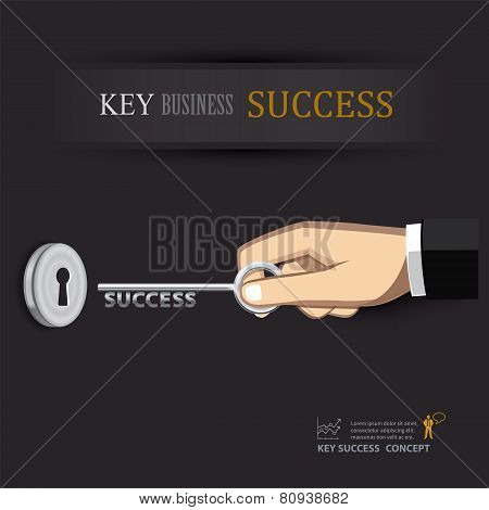 Hand Unlock Key Success Business