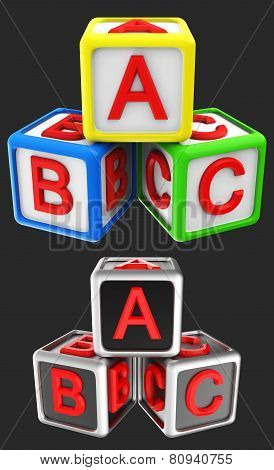 Blocks cube ABC