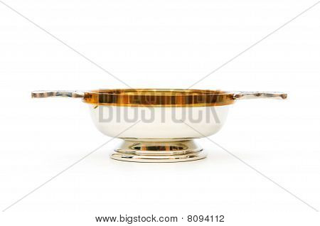 Scottish Quaich Isolated On The White Background