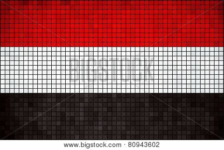 Abstract Mosaic Flag of Yemen
