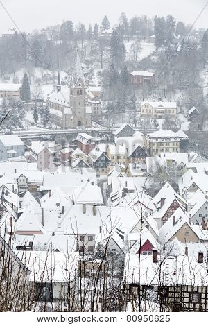 The small town of Kulmbach in Franconia, Germany