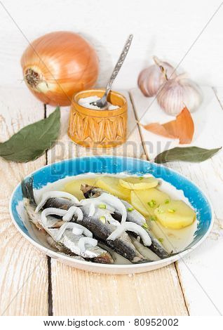 Boiled Fish With Potatoes