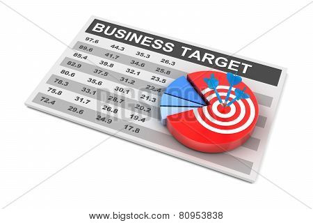 Business plan and target, 3d render