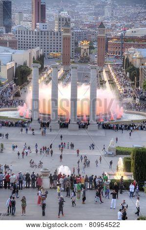 Barcelona. Singing Fountains Of Montjuic