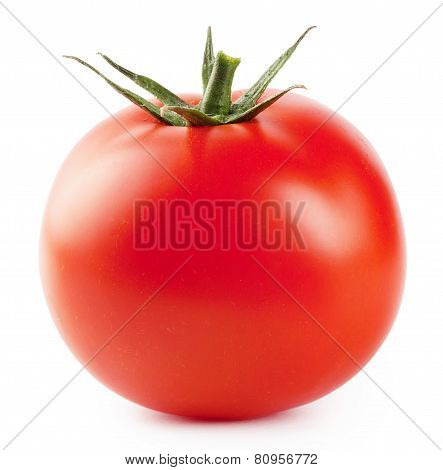 Ripe red fleshy tomatoes