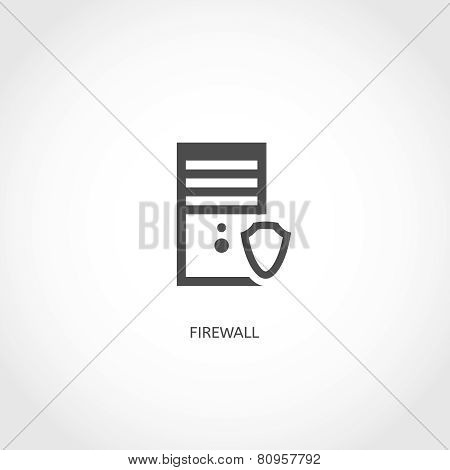Network firewall icon.