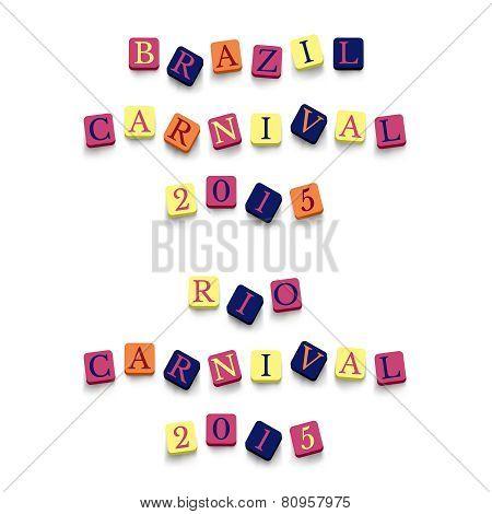 Words brazil rio carnival