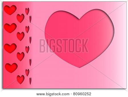 Stylish background with red hearts for Valentine's Day