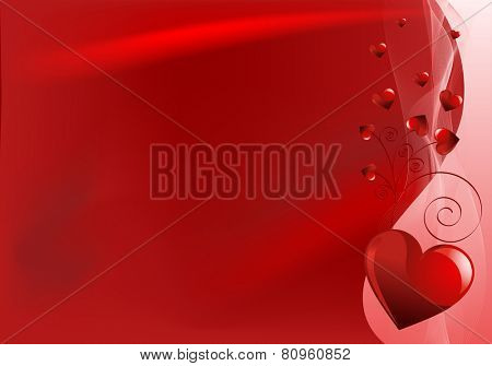 Valentine Day horizontal background with hearts