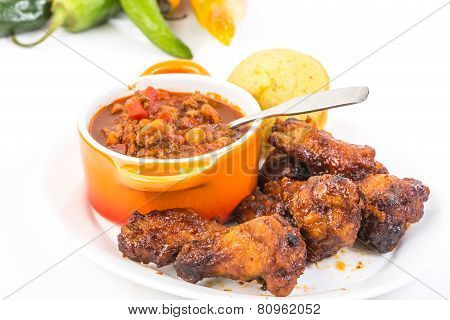 Hot And Spicy Chicken Wings With Chili