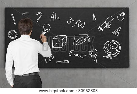 Education Symbol On Blackboard