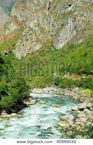 Urubamba River Near Machu Picchu (peru)