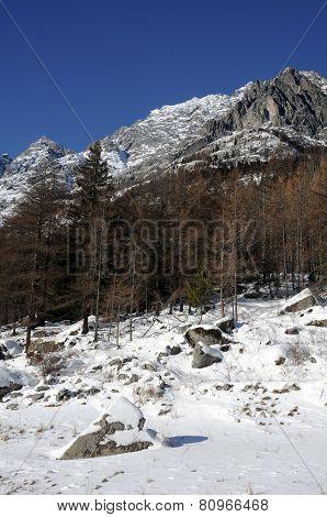Landscape of Bionaz Valle d' Aosta italy