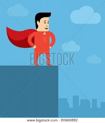 Super Businessman - the hero of sales and contracts