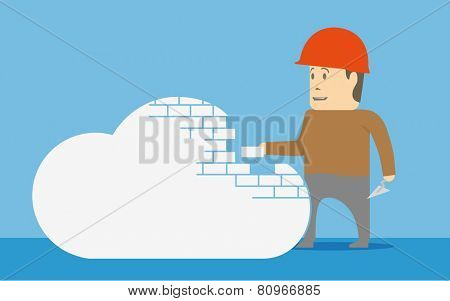 Building a cloud. Concept image.