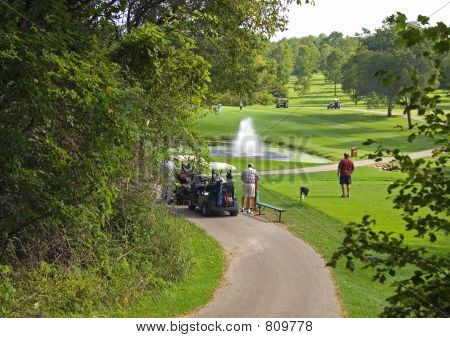 Busy Golf Course