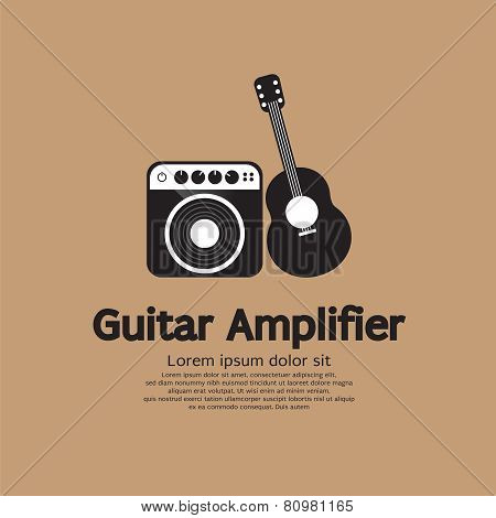Guitar And Amplifier Vector Illustration