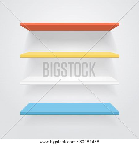 Color shelves. Vector.