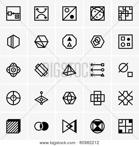 IQ test icons