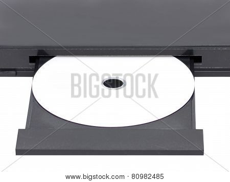 Close Up Dvd In Open Tray.