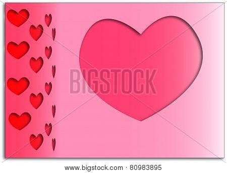 Volumetric pink background