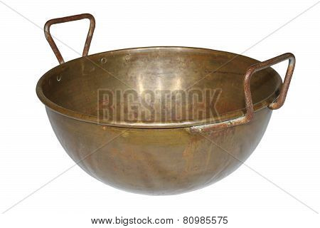 Ancient Weathered Copper Pot