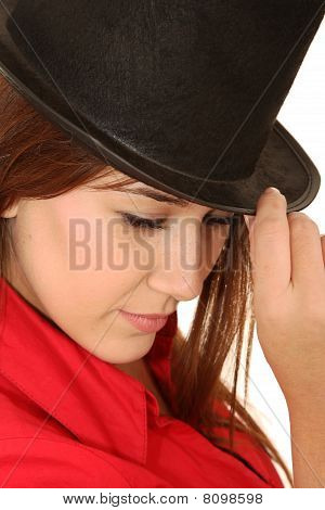 Pretty Woman In Black Hat
