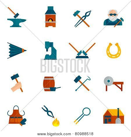 Blacksmith Icon Flat