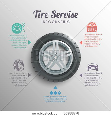 Tire Service Infographics